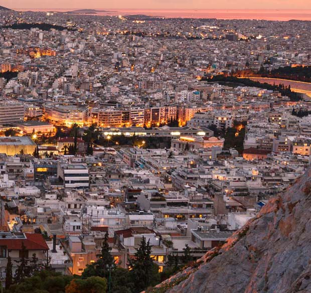 Athens Greece City Lights