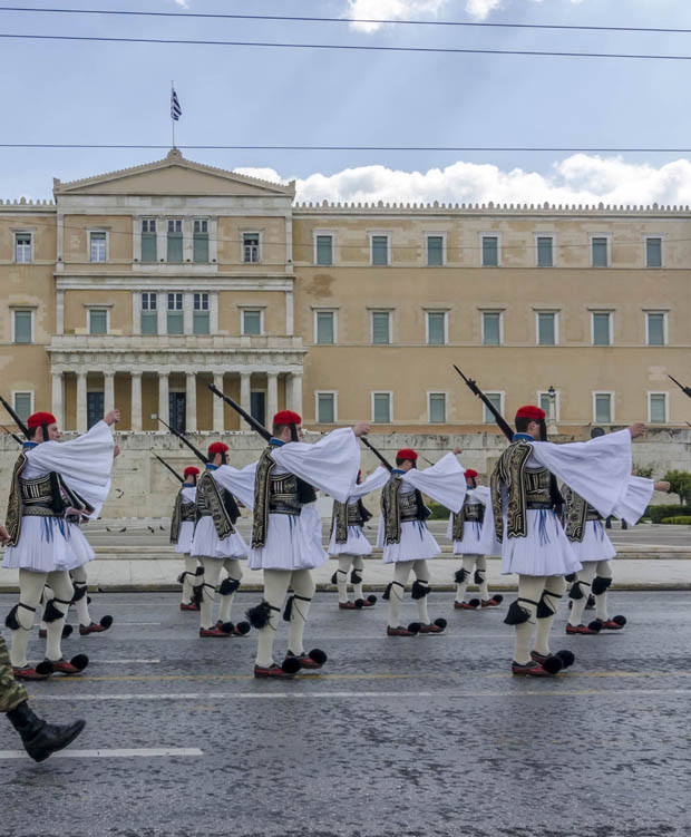 Evzones at Syntagma
