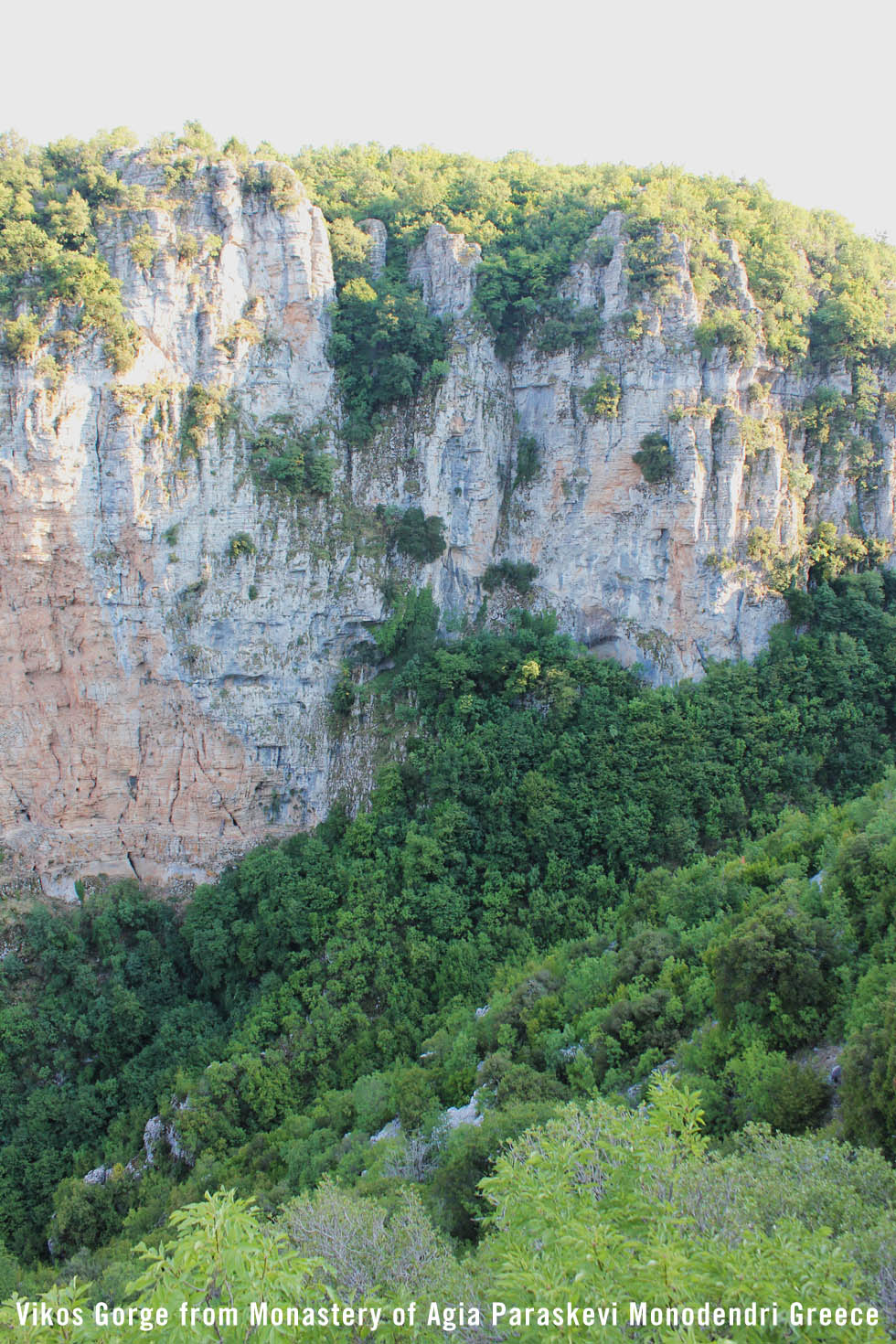 Vikos Gorge view from Monastery Agia Perakevi