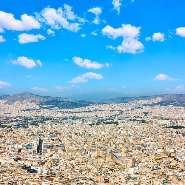 Athens Greece under Blue Skies