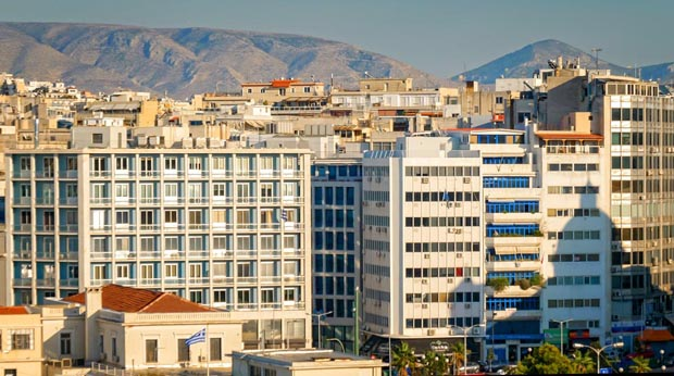 Buildings in Athens Greece