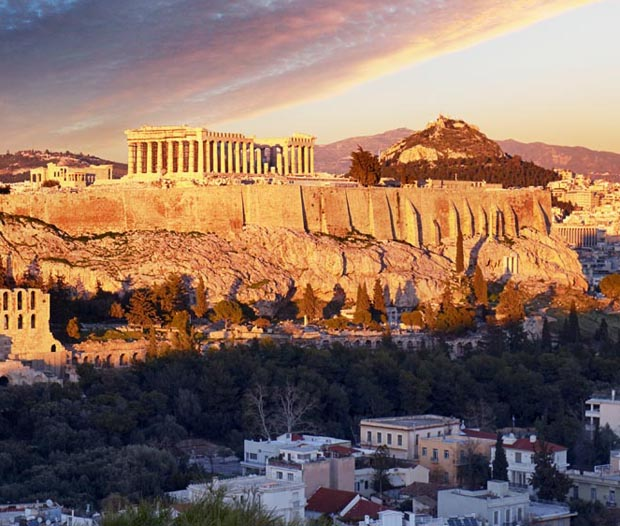 The Acropolis sunset