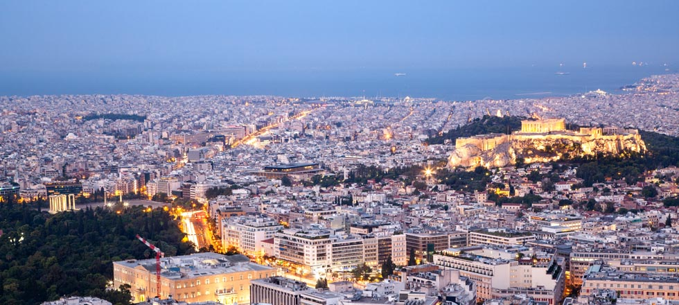 Athens Greece at Night