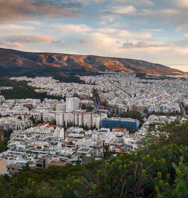 Athens Greece City sundown