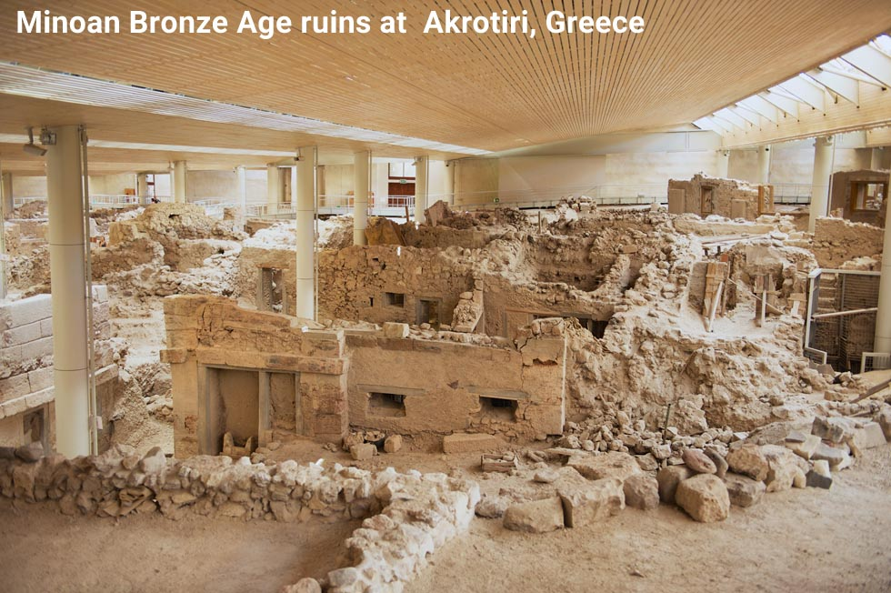 Akrotira Bronze Age ruins in Greece