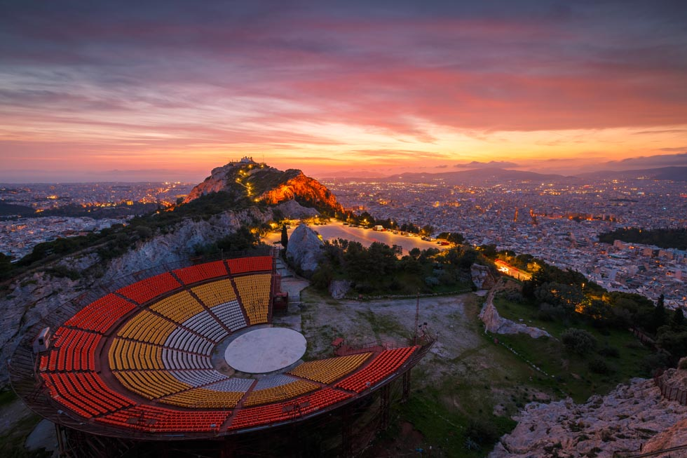 Theater on Lykabettus in Athens
