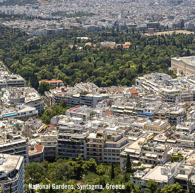 National Gardens in Athens Greece at Syntagma