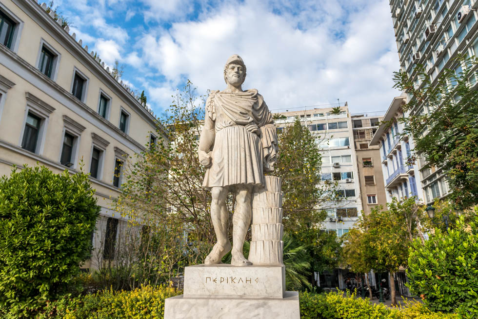 Pericles in Athens Greece