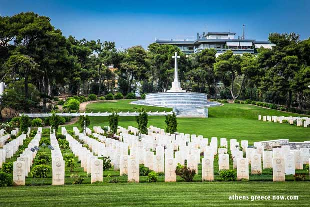 Phaleron War Cemetery in Athens in Greece