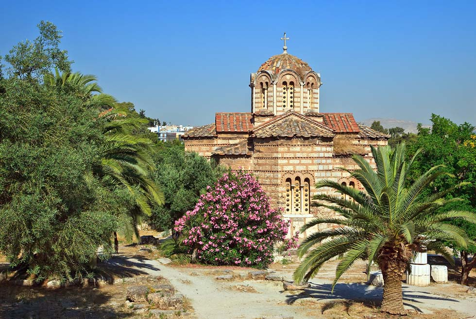 Solakis Byzantine Church of the Holy Apostles in Athens Greece