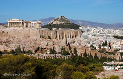 Acropolis with Lycabettus Hill