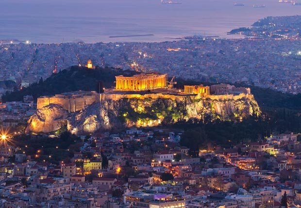 Acropolis Dusk and Night