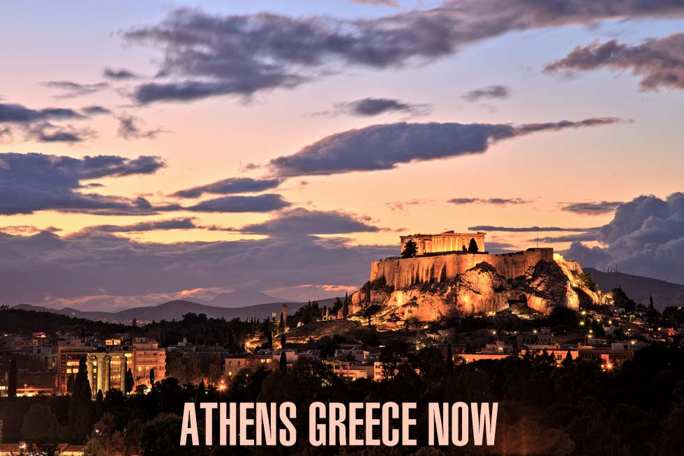 Acropolis Sunset in Athens Greece