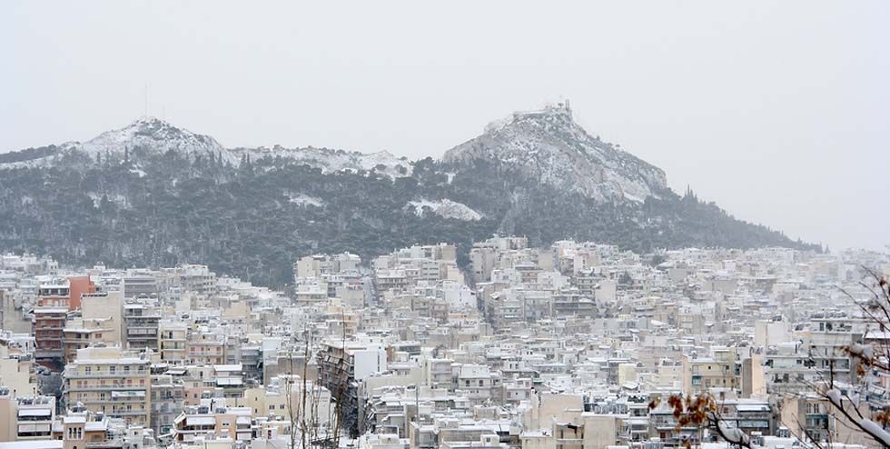 Larger photo - Athens and Snow