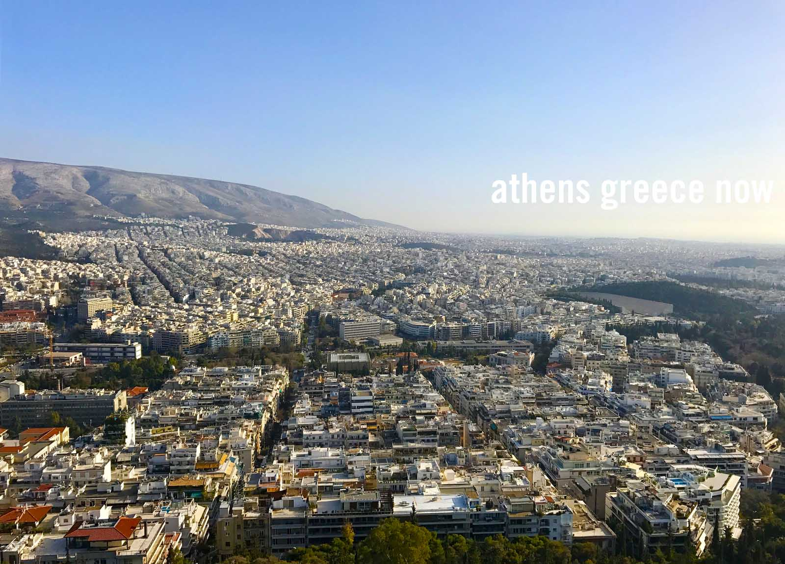 Enlarged - Athens Cityscape in Greece - viewed from Lycabettus