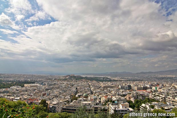 Athens Greece from Lycabettus Hill - Wide view