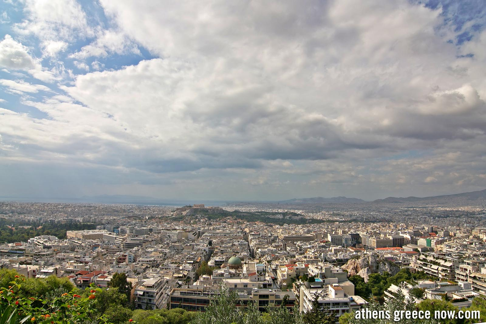 Enlarged - Athens Greece from Lycabettus Hill - Wide view