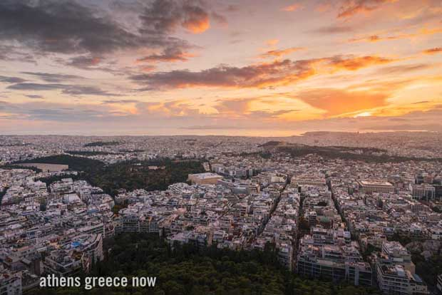 Athens Greece at Sunrise