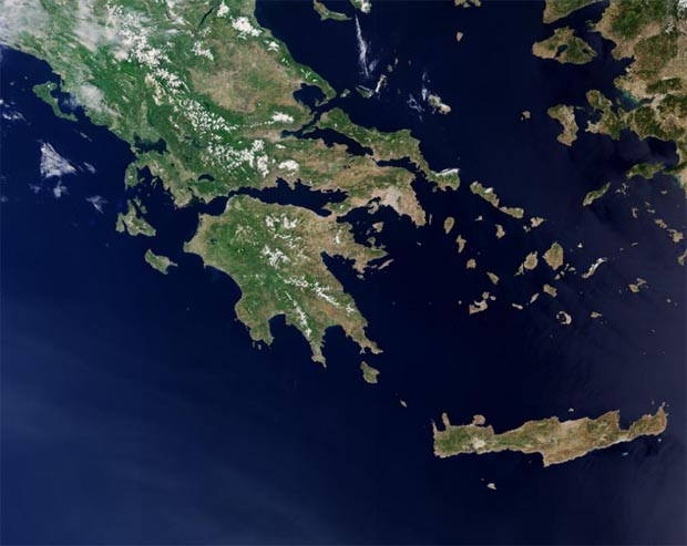 Greece Satellite