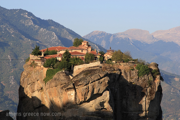 Meteora Monastery on mountain top