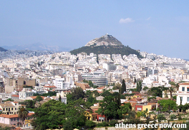 Mount Lycabettus in Athens Greece