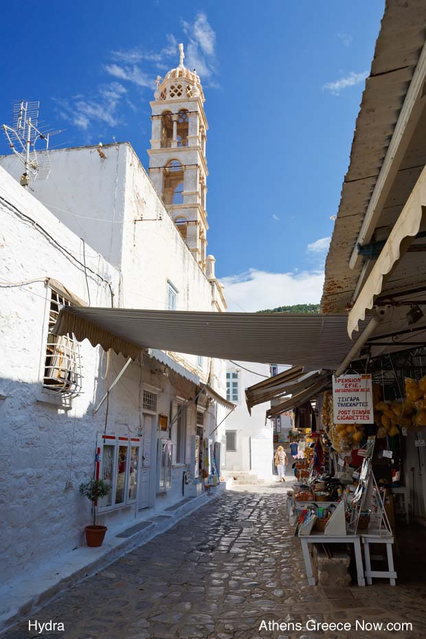 Hydra street on the island