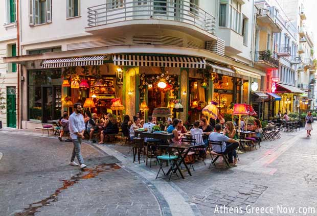 Taverna in Athens Greece