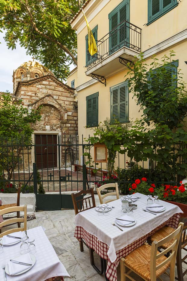 Taverna in the Plaka Athens Greece
