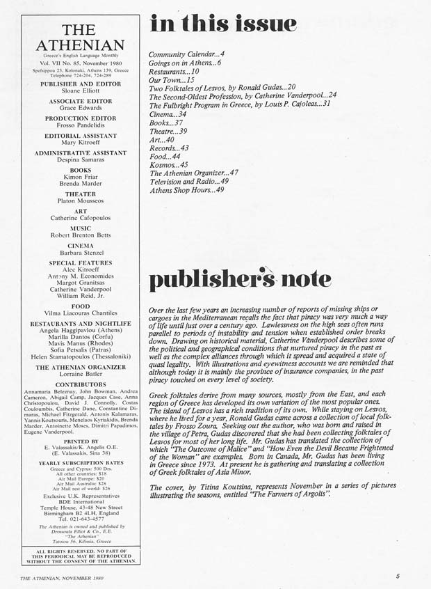 Publishers Page Nov 1980