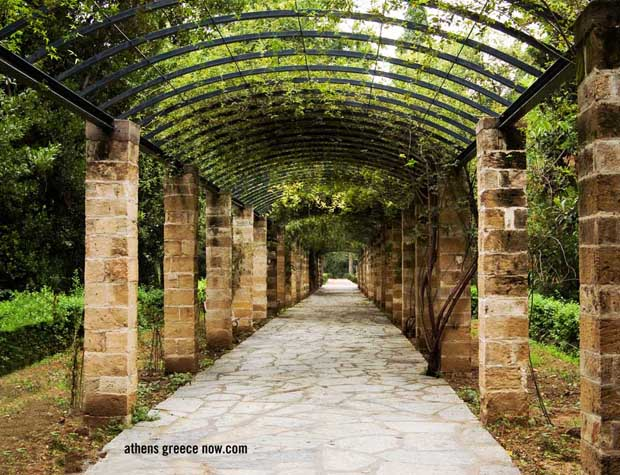 Walkway in Athens Greece